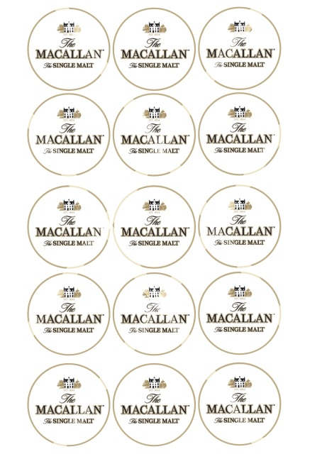 The Macallan whisky cake cupcake topper